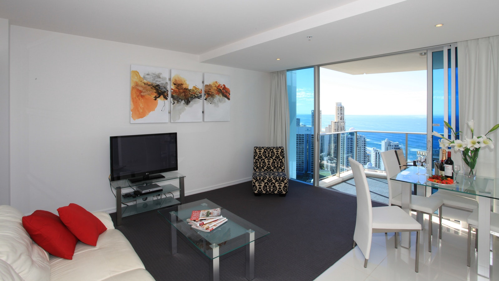 Holiday Holiday - H Residences above Hilton Surfers Paradise living area 2 bedrooms ocean view